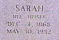 Sarah <I>Heisey</I> Detweiler