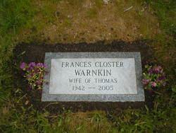 Frances A <I>Closter</I> Warnkin