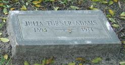 Julia <I>Turner</I> Adams