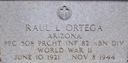 PFC Raul L. Ortega