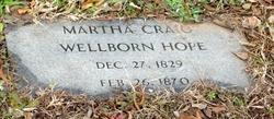 Martha Craig <I>Wellborn</I> Hope