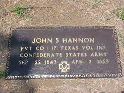 Pvt John S. Hannon