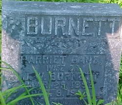 Harriet Jane <I>Harris</I> Burnett