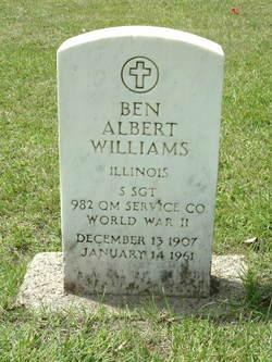 Sgt Ben Albert Williams