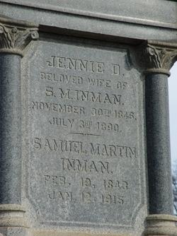 """Nancy Jane """"Jennie"""" <I>Dick</I> Inman"""