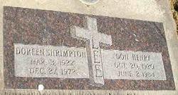 Mary Doreen <I>Shrimpton</I> Lee