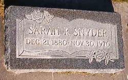 Sarah Ruddock Snyder
