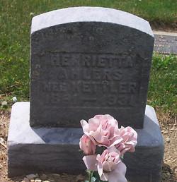 Henrietta <I>Kettler</I> Ahlers