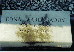 Sarah Edna <I>Ward</I> Gaddy