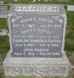 Annie Caroline <I>Andersen</I> Hansen