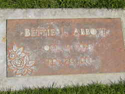 "Elizabeth Lou ""Bettie"" <I>Lindley</I> Abbott"