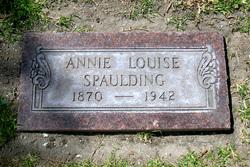 Annie Louise <I>Gisin</I> Spaulding