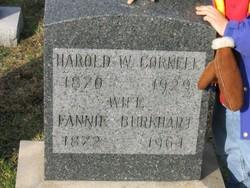 Fannie May <I>Burkhart</I> Cornell