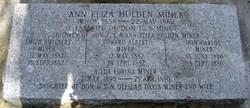 Ann Eliza <I>Holden</I> Miner