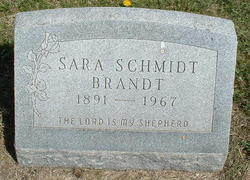 Sara <I>Schmidt</I> Brandt