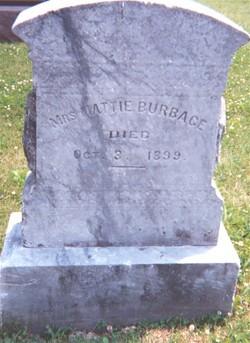 Mrs Mattie <I>Kirkendall</I> Burbage