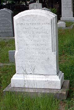 Eliza Palmer <I>Adair</I> Monroe