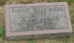 """Elvener """"Betty"""" <I>Baron</I> Allen"""