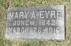Mary Ann <I>Evenshirer Duryea</I> Eyre