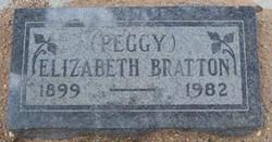 "Elizabeth ""Peggy"" <I>Burns</I> Bratton"