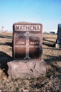 Mary Jane <I>Bonar</I> Mathena