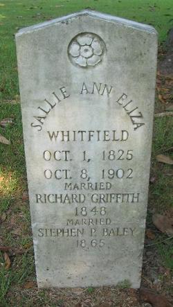 Sallie Ann Eliza <I>Whitfield</I> Baley