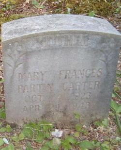 Mary Frances <I>Partin</I> Carter