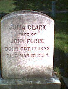 Julia <I>Clark</I> Force