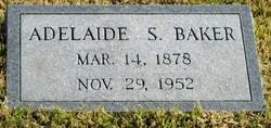 Adelaide S <I>Spangler</I> Baker