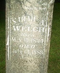 Sarah Ann <I>Bishop</I> Welch