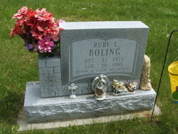 Ruby Lucille <I>Brough</I> Boling