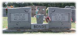 "Mary Elizabeth ""Betty"" <I>Caldwell</I> Bonds"