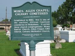 Moses, Allen Chapel, Calvary Cemeteries