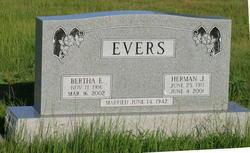 Bertha Emma Emelia <I>Helms</I> Evers