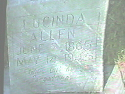 Lucinda Caroline <I>Cantley</I> Allen