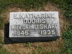 E Katharine <I>Dooris</I> Sharp