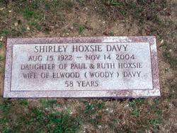 Shirley <I>Hoxsie</I> Davy