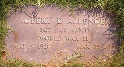 Sgt Robert D. Allender