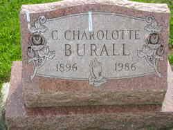 Christine Charlotte <I>Crowe</I> Burall