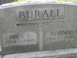 Florence May <I>Uhl</I> Burall