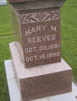 Mary M <I>Backus</I> Reeves