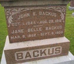 Jane Belle <I>Glasscock</I> Backus