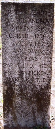 Col Andrew Pickens, Sr