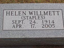 Helen <I>Staples</I> Willmett