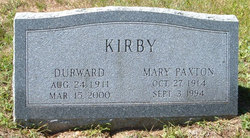 Mary Paxton <I>Young</I> Kirby