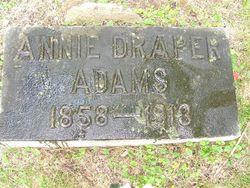 """Annie F """"Georgianna"""" <I>Draper</I> Adams"""