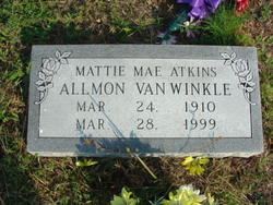 Mattie Mae <I>Atkins</I> Allmon - VanWinkle