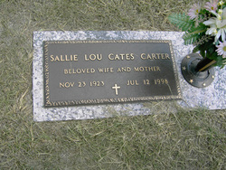 Sallie Lou <I>Cates</I> Carter