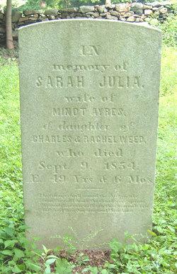 Sarah Julia <I>Weed</I> Ayres