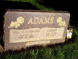 Florene <I>Pendleton</I> Adams
